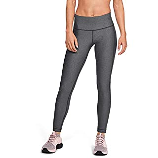 Under Armour Women's HeatGear Armour High Waisted  Leggings , Charcoal Light Heather (019)/Metallic Silver , X-Small