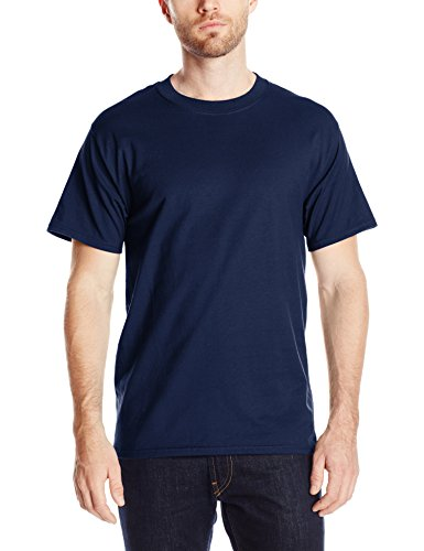 Hanes Men's Short-Sleeve Beefy T-Shirt,Navy,2XL ()