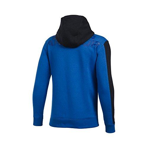 Under Armour Boys' Titan Fleece Wordmark Hoodie, Ultra Blue/Black, Youth X-Large
