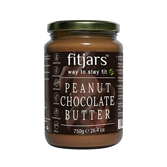 FITJARS Stone Crushed All Natural Peanut Chocolate Butter (Cocoa Powder),750 Gm