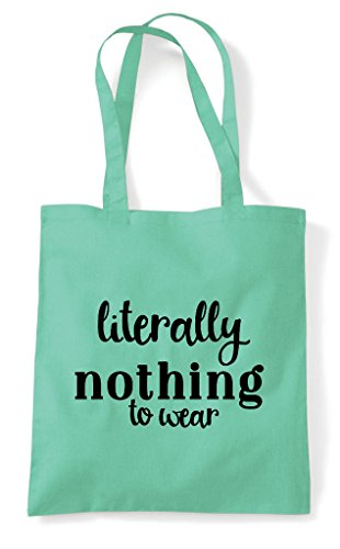 Nothing Bag Literally Statement Shopper Wear Tote Mint To 1FOqz