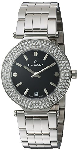 Grovana Women's 'Ladies Dressline' Swiss Quartz Stainless Steel Casual Watch, Color:Silver-Toned (Model: 5079-7137)