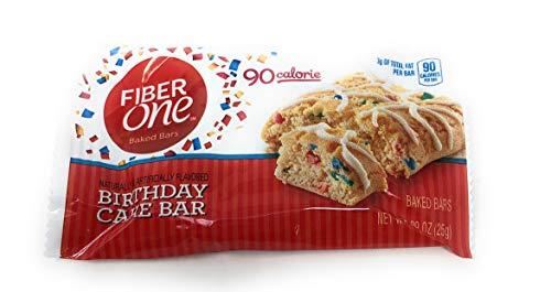 Fiber One 90 Calorie Birthday Cake Bar ~ 20 Count