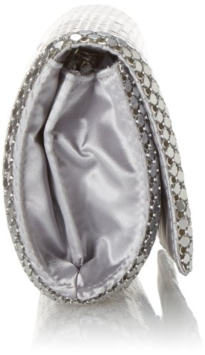 Jessica McClintock Metal Mesh Roll Bag Silver by Jessica McClintock (Image #3)