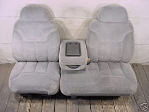 Durafit Seat Covers C974 V8 Chevy Truck 60 40 Bench Seat Covers Dark Gray Velour