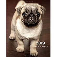 2019 Daily Planner: Academic Hourly Organizer In 15 Minute Interval; French Bulldog Front Cover; Appointment Calendar With Address Book & Note Section; Monthly & Weekly Goals Journal With Quotes