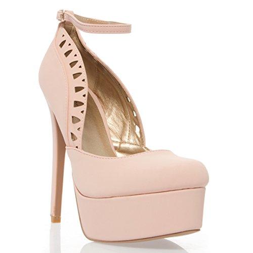 Nu Blush (V-Luxury Womens 10-RAVISH85 Clsoed Toe High Heel Platform Stiletto Pump Shoes, Blush Nubuck, 8 B (M))