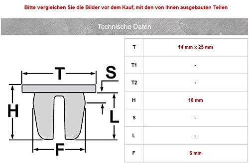 T/ürdichtung Zierleistenklammer Clips 5 St/ück