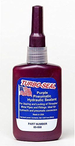 Turbo Seal 65-050 (Loctite 545 Equivalent) Thread Sealant Hydraulic/Pneumatic - Purple - 50ml Plastic Bottles - Case of 10 by Turbo Seal
