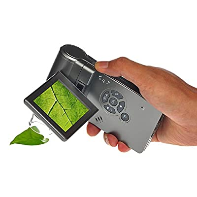 Mustcam 5M Handheld Mobile LCD Digital Microscope up to 1200x by digital magnification, Micro-SD Storage, Photo and Video Capture