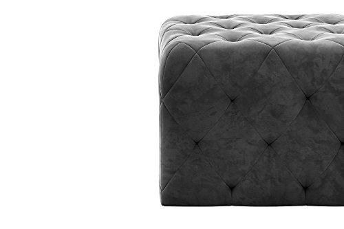 Astounding Novogratz Vintage Tufted Upholstery Design Square Ottoman Pabps2019 Chair Design Images Pabps2019Com