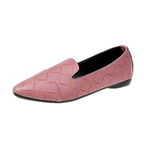 - Leisuraly Womens Leather Penny Loafer Casual Flat Shoes for Women Ladies Girls Pink