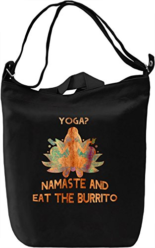 Namaste Burrito Borsa Giornaliera Canvas Canvas Day Bag| 100% Premium Cotton Canvas| DTG Printing|