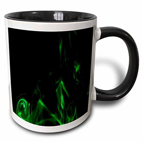 Yves Creations Smoke Effects - Green Smokey Black Silhouette - 11oz Two-Tone Black Mug (mug_15551_4)