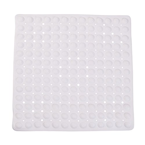 - DMI Non-Slip Suction Cup Shower Mat with Drain Holes got Tub or Shower, 21 Inch Square, White