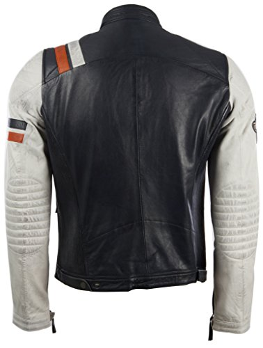Pelle Motociclista Uomo Morbida Retro Giacca Aviatrix 3zs3 Da Vera In Corsa xwU8OPqH