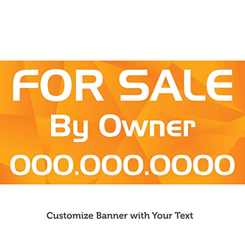 - HALF PRICE BANNERS | Custom Business Vinyl Banner | Personalize with Your Text | Indoor/Outdoor | 2'x6' Mosaic | Free Ball Bungees & Zip Ties | Advertising Sign | Various Sizes | Made in USA