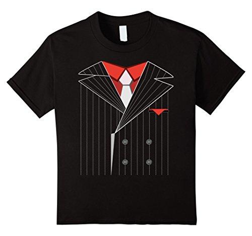 Kids Gangster Costume Shirt Halloween Mafia 4 Black