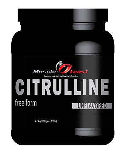 Citrulline pure par Muscle fête - 800 grammes (1,76 lb)
