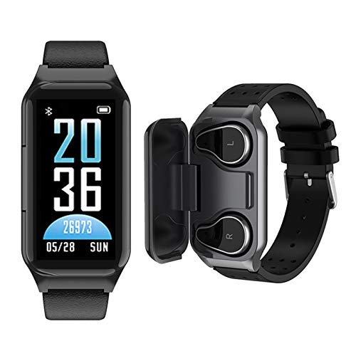 Smart Watch Earbuds 2 in 1, Fitness Tracker Watch with TWS Earbuds, Waterproof Bracelet with Step Calories Sleep Tracker Heart Rate Blood Pressure Monitor, Sport Headset for iPhone Android Phones