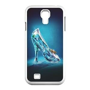 Samsung Galaxy S4 9500 Cell Phone Case White Cinderella Glass Slipper Shoes Illust VIU913077