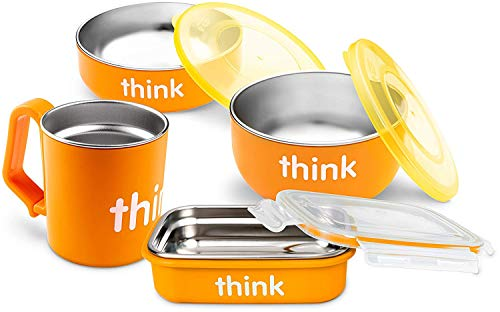 Thinkbaby Complete BPA Free Feeding Set (Orange)