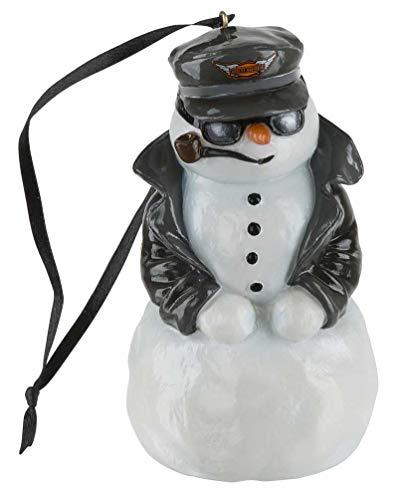 HARLEY-DAVIDSON Custom Sculpted Biker Snowman LED Color Ornament HDX-99169 (Davidson Tree Harley Christmas)