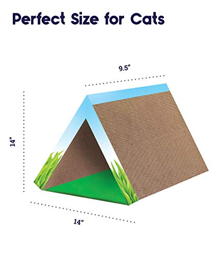 Cat Scratcher and Tunnel, Fold Away Scratching Tunnel by Petstages