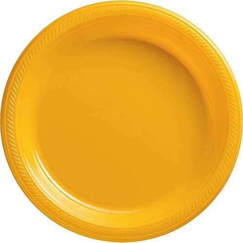 Big Party Pack Sunshine Yellow Plastic Plates | 10.25
