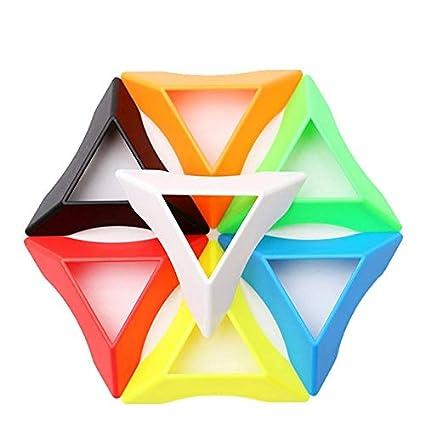 Alician 10PCS Magic Cube Plastic Base Educational Toys Random Color