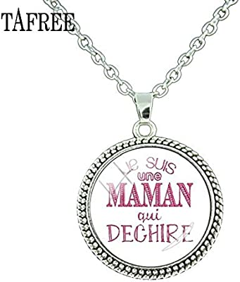 Amazon.com : Pendant Necklaces - 2018 New Je Suis Une Mamie ...