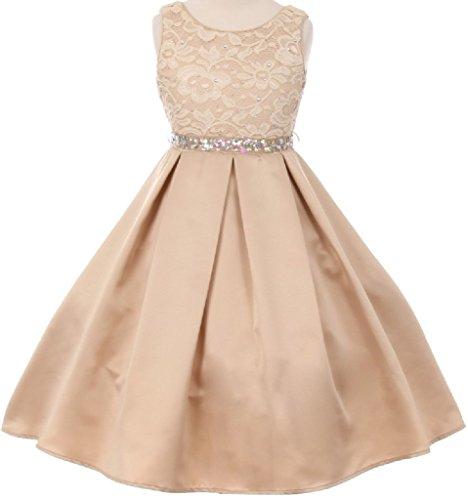 Pleated Satin Top Dress - 3