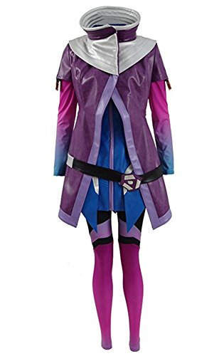 Xiao Maomi Womens Battle Suit Halloween Cosplay Costume Full Set (Custom made, Blue) - Custom Made Costumes For Sale