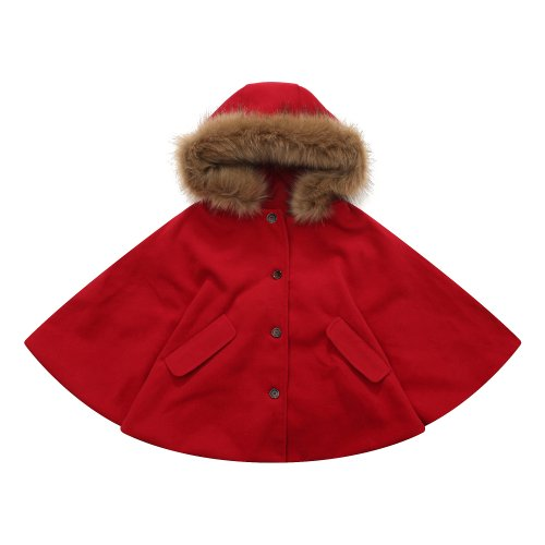 Richie House Girl's Fashion Cape with Button Placket RH1116-F-1/2-FBA