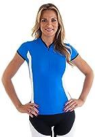 "Alii Lifestyle Women's ""Antoinetta"" Cap Sleeve Mandarin Collar Bike Jersey"