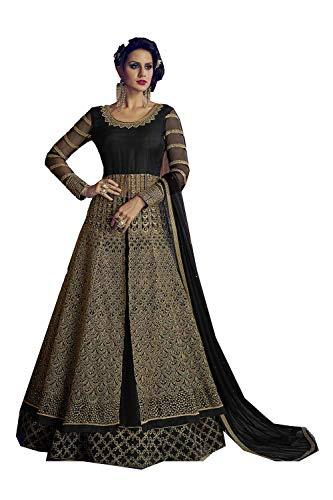 Salwar Designer Kameez Ethnic Partywear Traditonal Facioun 5 Da Black Anarkali Indian Women CWF8cfSq