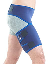 NEO G Groin Support - Medical Grade Quality, HELPS groin strains, sprains, pain, pulls, tears, aches, stiffness, injury, recovery & rehabilitation-Everyday or sporting activities-ONE SIZE Unisex Brace