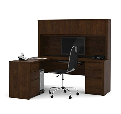 Bestar Prestige Collection L Shaped Desk W/Hutch 71.1