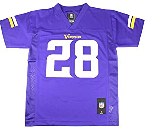 Adrian Peterson #28 Minnesota Vikings NFL Youth Team Color Jersey