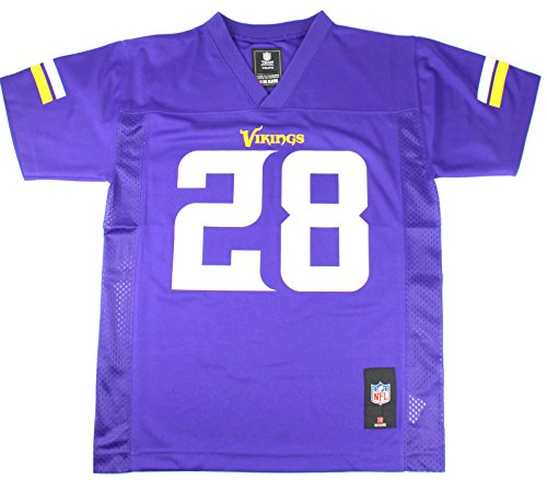 (Adrian Peterson #28 Minnesota Vikings NFL Youth Team Color Jersey (Youth Large 14/16))