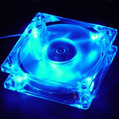 Logisys Blue LED 80mm Case Fan with 3 / 4 Pin -