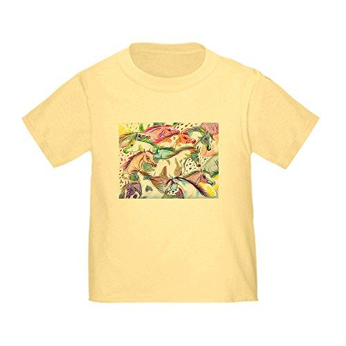 CafePress Wild Horse Herd Toddler T-Shirt Cute Toddler T-Shirt, 100% Cotton Daffodil Yellow