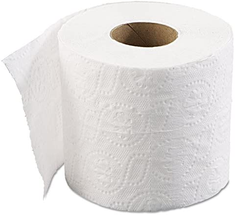 Boardwalk 6145 Bathroom Tissue, Standard, 2-Ply, White, 4 X 3 Sheet, 500 Sheets/roll, 96/Carton, 1 Count (Pack of one)