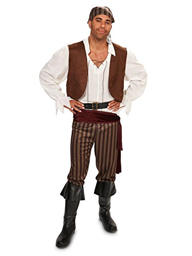 [Rebel Pirate Male Adult Costume] (Pirate Male Costumes)
