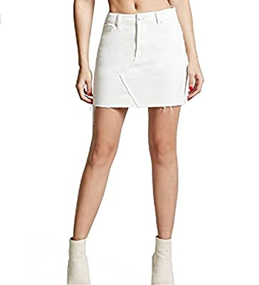 ANDYOU-Women Irregular High Hi-Waist Jean Summer Thin Mini Skater Skirt