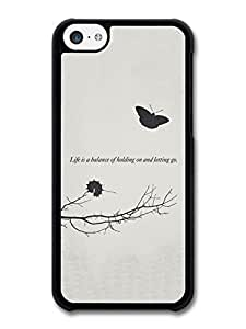 MMZ DIY PHONE CASELife is A Balance Keith Urban Butterfly Caterpillar Life & Love Inspirational Quote case for iphone 5/5s