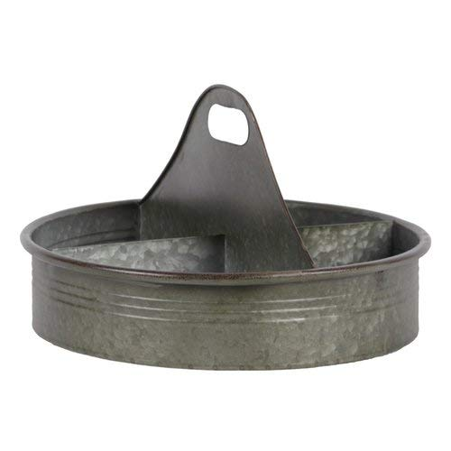 OKSLO Owens 4 slot metal round accent tray