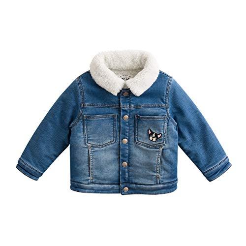marc janie Little Boys Girls' Thick Denim Jacket Baby Fleece Lined Jacket Coat Denim Blue 70132 3T (90 cm) by marc janie