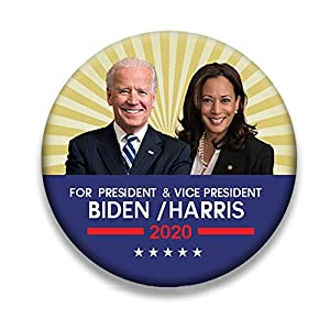 Fuguan Biden Harris Button Pins, 2020 Presidential Election Campaign Buttons Metal 58mm