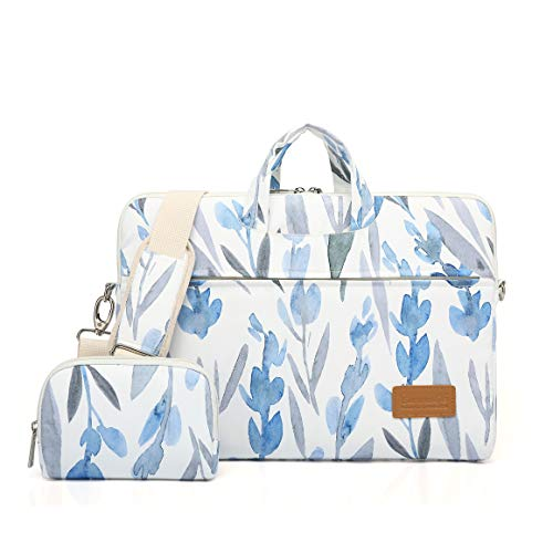 Canvaslife Daffodils Pattern 15 inch Waterproof Laptop Shoulder Messenger Bag for 14 Inch to15.6 inch Laptop and MacBook Pro 15 Laptop Case